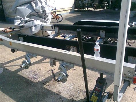 Boat Trailer Axle Repair by Leaf Springs To Torsion Axle Changeover The Hull