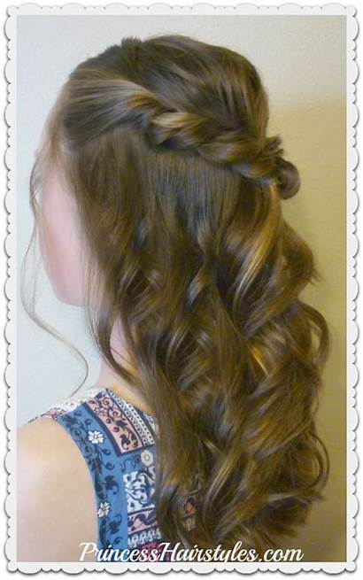 Hairstyle Prom Half Twist Hair Hairstyles Romantic