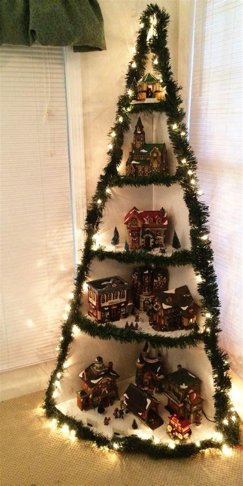 corner christmas tree display tutorial wooden tree corner