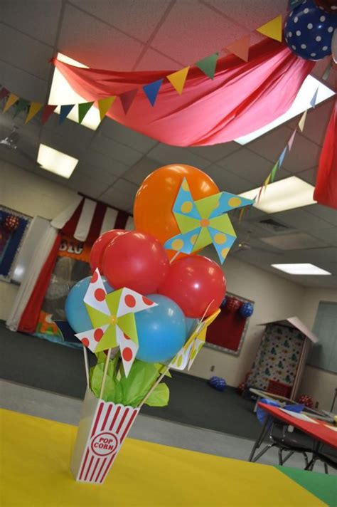 circus themed kindergarten graduation party