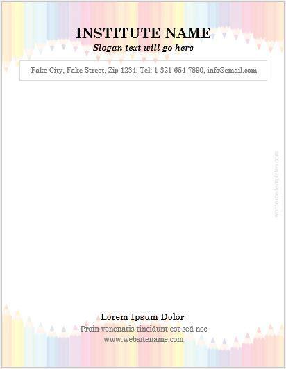 educational institute letterhead templates ms word
