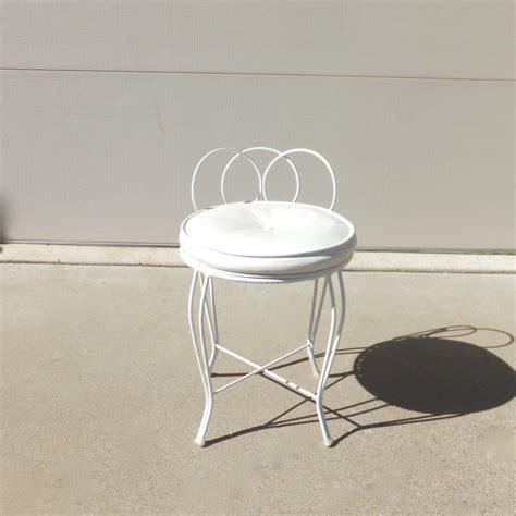 vintage vanity stool regency chic vanity chair