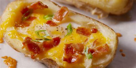 baked breakfast ideas best breakfast baked potato recipe delish com