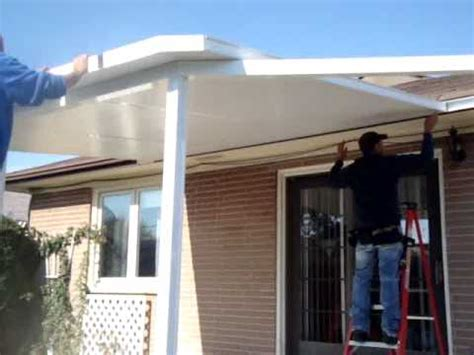 install  insulated roof panels part  youtube