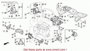 Honda Civic 1995  S  4dr Lx  Ka  Engine Mount