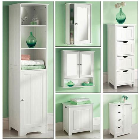 Standing Cupboard by White Wooden Bathroom Cabinet Shelf Cupboard Bedroom