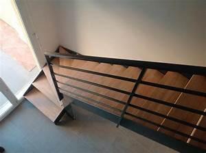 Calcul Escalier Quart Tournant : escalier m tallique quart tournant bas avec palier ~ Dailycaller-alerts.com Idées de Décoration