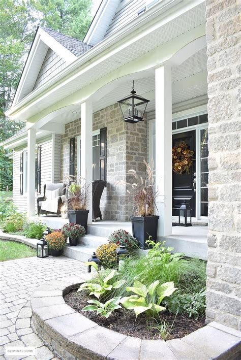 An Elegant Front Porch Decorated For Fall  Dream Home