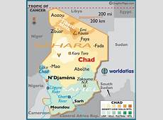 Chad Large Color Map