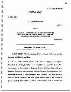 federal court affidavit form canada free download With court affidavit template
