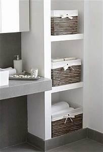 Ikea Salle De Bain Rangement : rangement avec des niches dans un mur de salle de bain ~ Teatrodelosmanantiales.com Idées de Décoration
