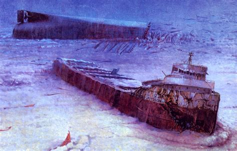 where did the edmund fitzgerald sank today in history november 10 the quot edmund fitzgerald quot sinks