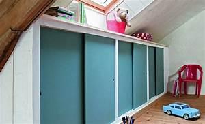 Fabriquer Sa Porte Coulissante Sur Mesure : choisir une porte coulissante de placard sous pente ~ Premium-room.com Idées de Décoration