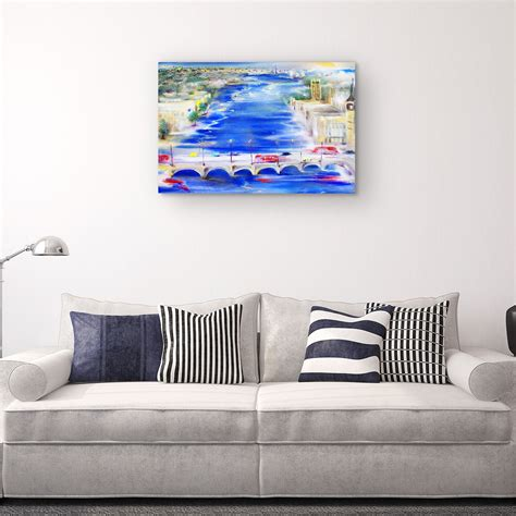 Best offers and deals on purchase of clocks online at danube home from dubai, abu dhabi, sharjah and other parts of uae. Canvas Wall Art - Abstract - Bridge over the Danube in Budapest Painting 60 x 90 cm - Lys og Art