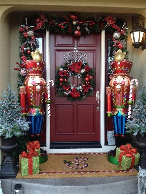 decorative nutcrackers for christmas 40 stunning porch ideas