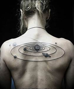 30 Enchanting Solar System Tattoo Designs | Amazing Tattoo ...