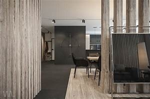 magnificent wood decor for small apartment design With habillage mur interieur bois