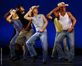 Country Line Dancing Cowboys