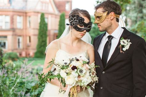 Halloween Masquerade Wedding Inspiration Real Weddings