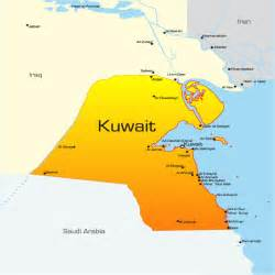 Kuwait Map Showing Attractions & Accommodation