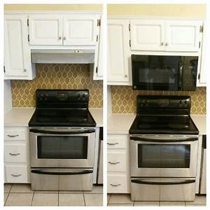 Replaced Range Hood With Vented Microwave