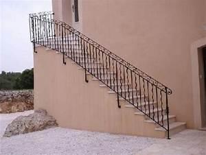 Rampe D Escalier Moderne : escalier rambarde et garde corps en fer forge hyeres var ferronnerie d 39 art la reinette ~ Melissatoandfro.com Idées de Décoration