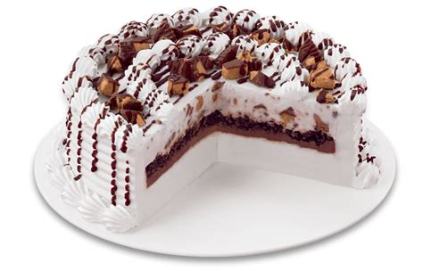 reese peanut butter cup blizzard cake dq cakes menu