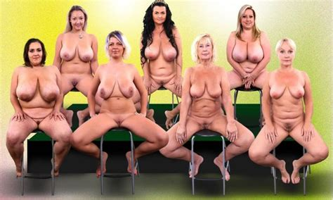 a group of mature women spreading naked framman