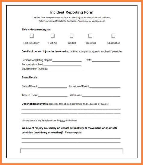Incident Report Template 6 Incident Report Template Microsoft Word Progress Report