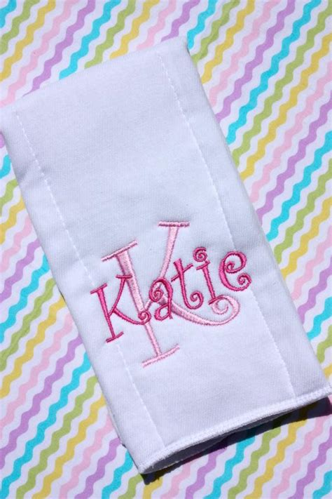 personalized embroidered burp cloth monogrammed baby gift