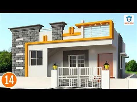 simple house front elevation independent elevations single floor  plan petadun single
