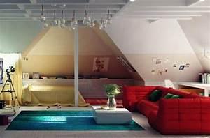 Bett Unter Dachschräge : 28 einrichtungsideen f r kinderzimmer mit dachschr ge ~ Lizthompson.info Haus und Dekorationen