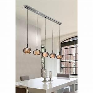 Lustre Suspension Design : luminaire suspension design en ligne 5 lampes ~ Teatrodelosmanantiales.com Idées de Décoration