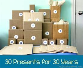 20 year anniversary gift ideas 30th birthday gift idea 30 presents for 30 years the
