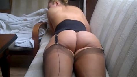 In My Brown Ff Nylon Stockings In A Corset With A Naked Ass