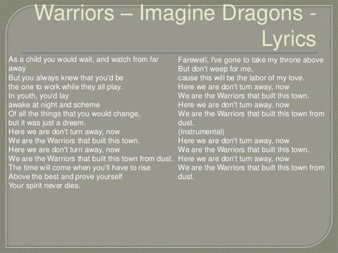 Warriors Lyrics