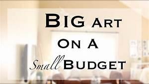 DIY Big/Large Wall Art - YouTube