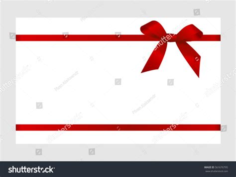 gift card red ribbon bow  stock vector
