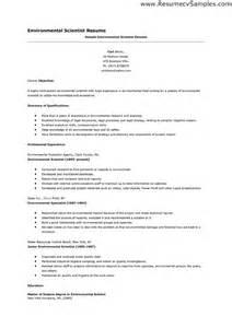environmental scientist resume cover letter environmental science resume sle http www resumecareer info environmental science resume