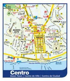 Lisbon Portugal Tourist Map
