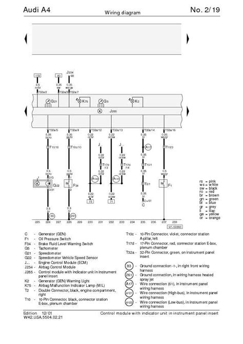 The Audi Complete Wiring Diagrams Schematic
