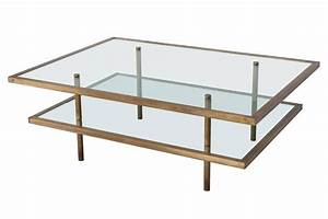 french bronze and glass two tier coffee table at 1stdibs With 2 tier glass coffee table