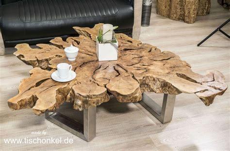 Exklusiver Couchtisch Aus Einer Baumscheibe  Der Tischonkel