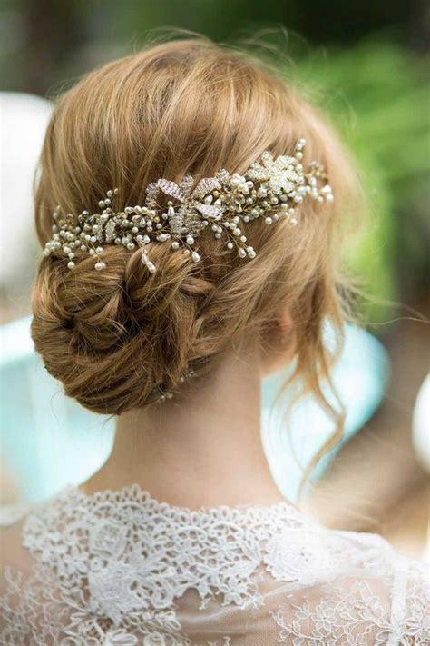 20 bridal hairstyles for a romantic glam look deer pearl