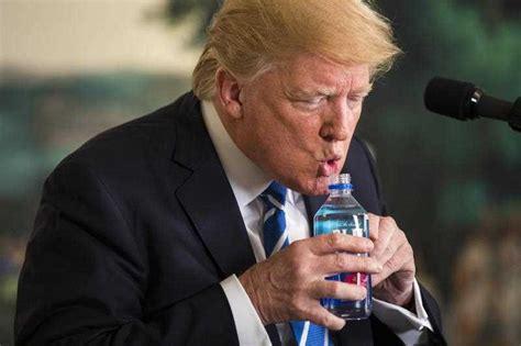 trump water fiji bottle sbs rubio during
