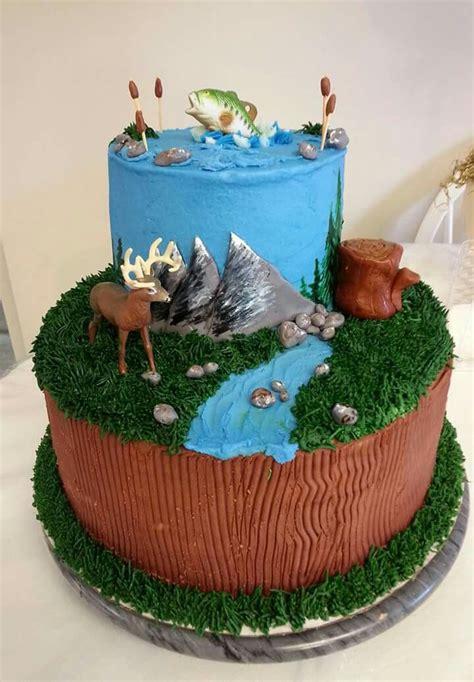 hunting  fishing birthday cake birthday cakes