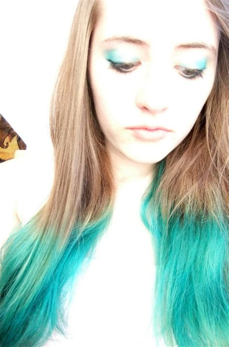 blue dyed tips hair colors ideas