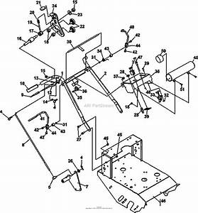 Bunton  Bobcat  Ryan 932007g 16hp Kawasaki 32 Classic Pro Parts Diagram For Upper Handle Assembly