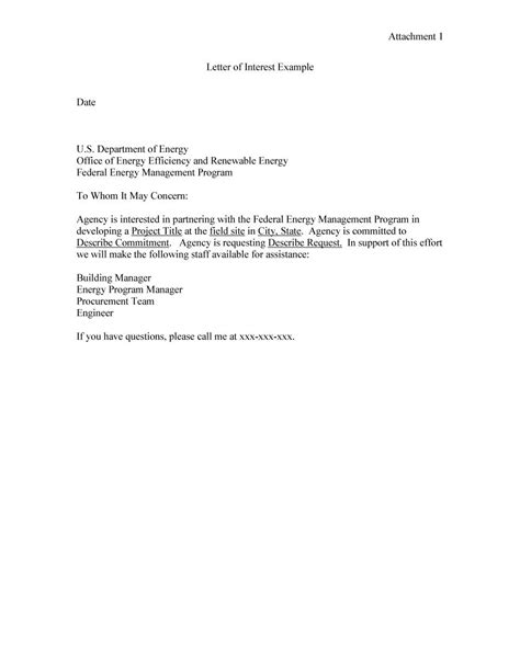 letter of interest template 30 amazing letter of interest sles templates