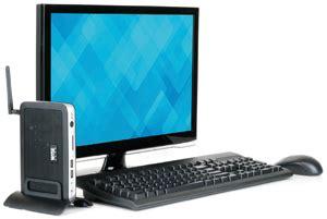 dell thin client desktop   single core